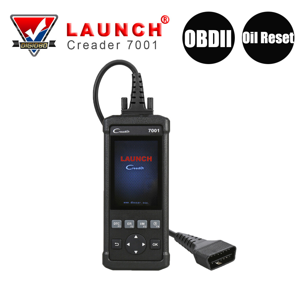 LAUNCH CReader 7001 CR7001 Car Diagnostic Tool Code Reader Auto Full OBDII/EOBD Diagnostic Function with Oil Reset Scanner