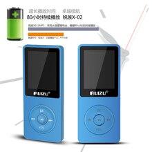 Original RUIZU X02 Ultrathin Light Sports MP3 Player AVI 8GB Storage And 1.8 Inch Screen Can Play 80 hours Lossless Flac Ape