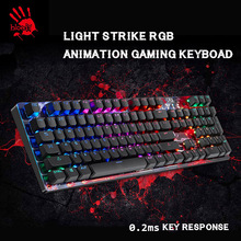 A4tech Bloody B810R mechanical keyboard Self-customize RGB USB Wired Mild Strike Laptop recreation skilled gaming keyboard