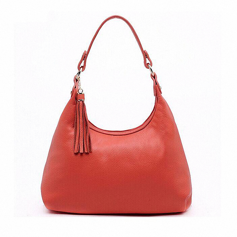 ФОТО handbags Women shoulder bag first layer cowhide genuine leather bag famous brands women leather handbags bag ladies Hobos LI-738