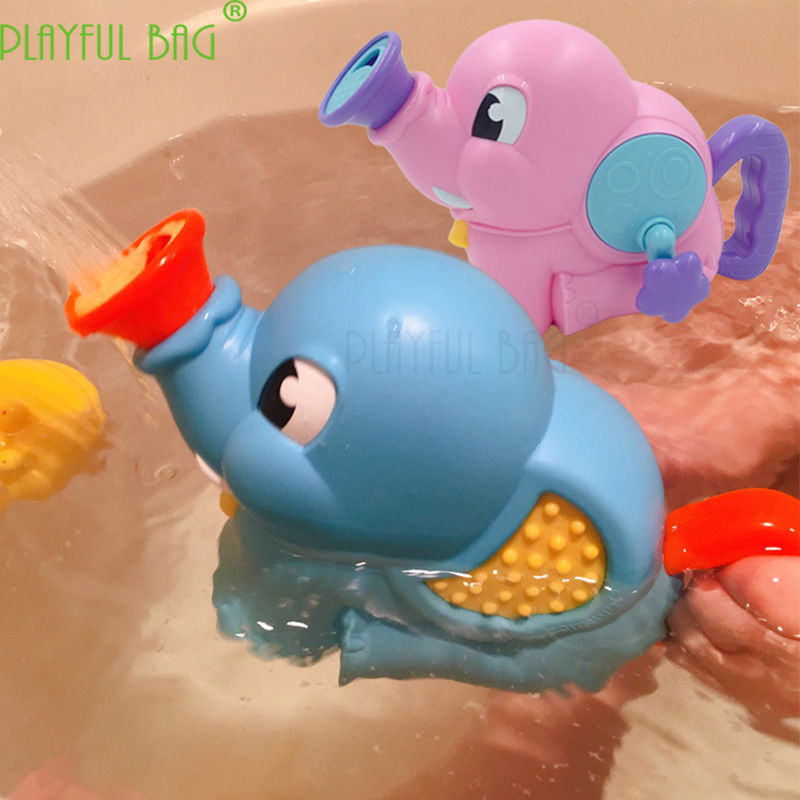 Baby bathing toys, elephants, hand-held boys and girls spray water pumps to create children's hands-on ability. E09