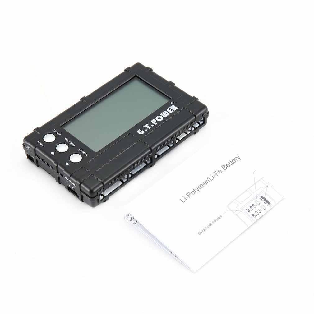GT. POWER 3 в 1 RC 2-6 S lcd Li Polymer/Li-Fe устройство балансировки аккумуляторов разрядник балансировочный измеритель напряжения тестер с разъемом JST