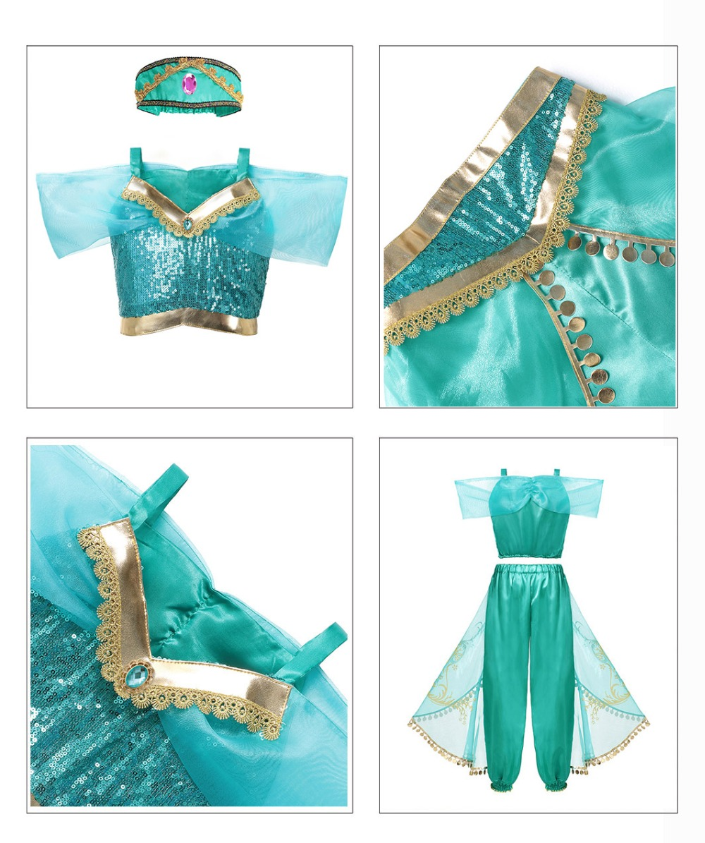 HTB1ZpYGJXYqK1RjSZLeq6zXppXab - Fancy Baby Girl Princess Clothes Kid Jasmine Rapunzel Aurora Belle Ariel Cosplay Costume Child Elsa Anna Elena Sofia Party Dress