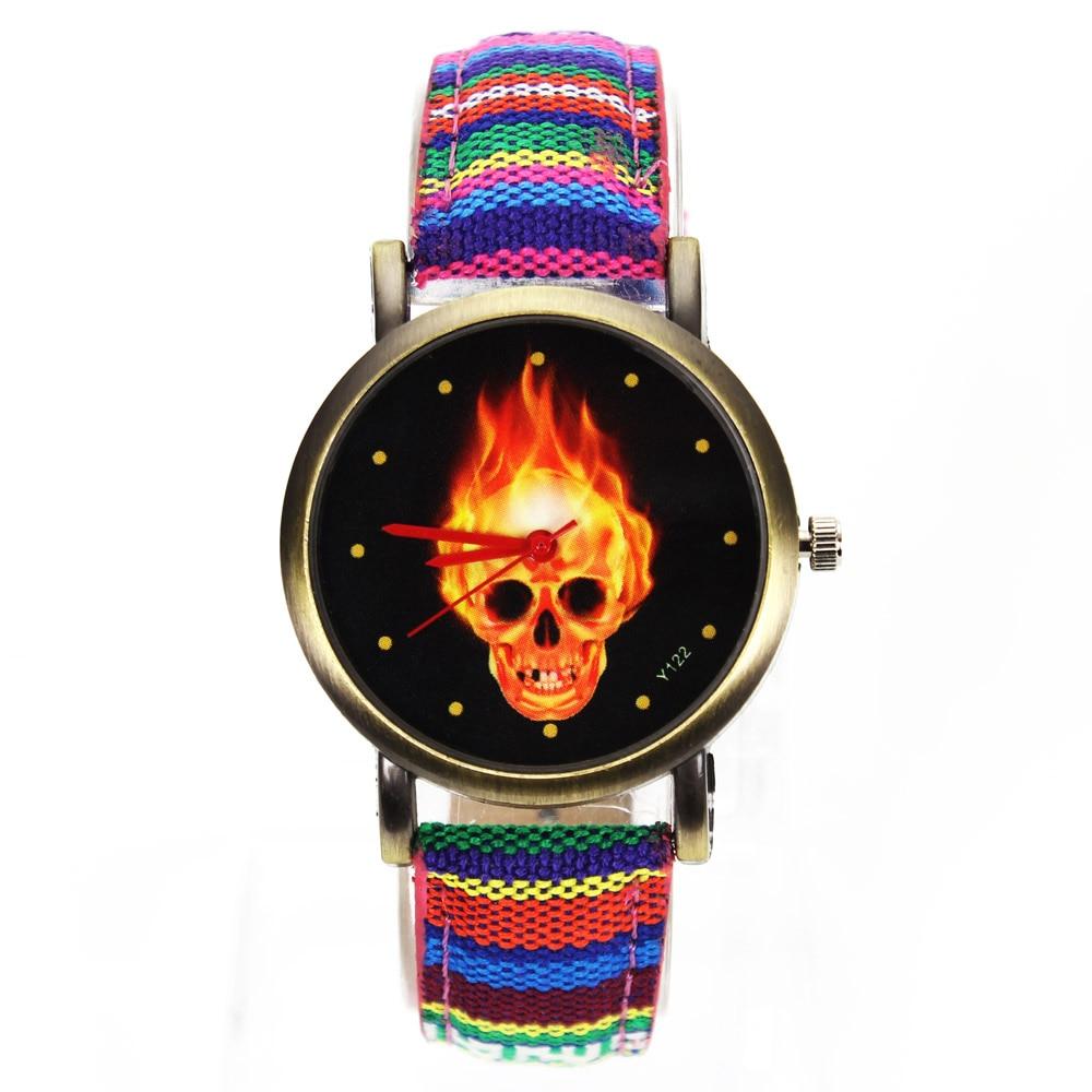 Tűz forró sötét égő koponya csontváz dial órák nők férfiak - Férfi órák - Fénykép 2