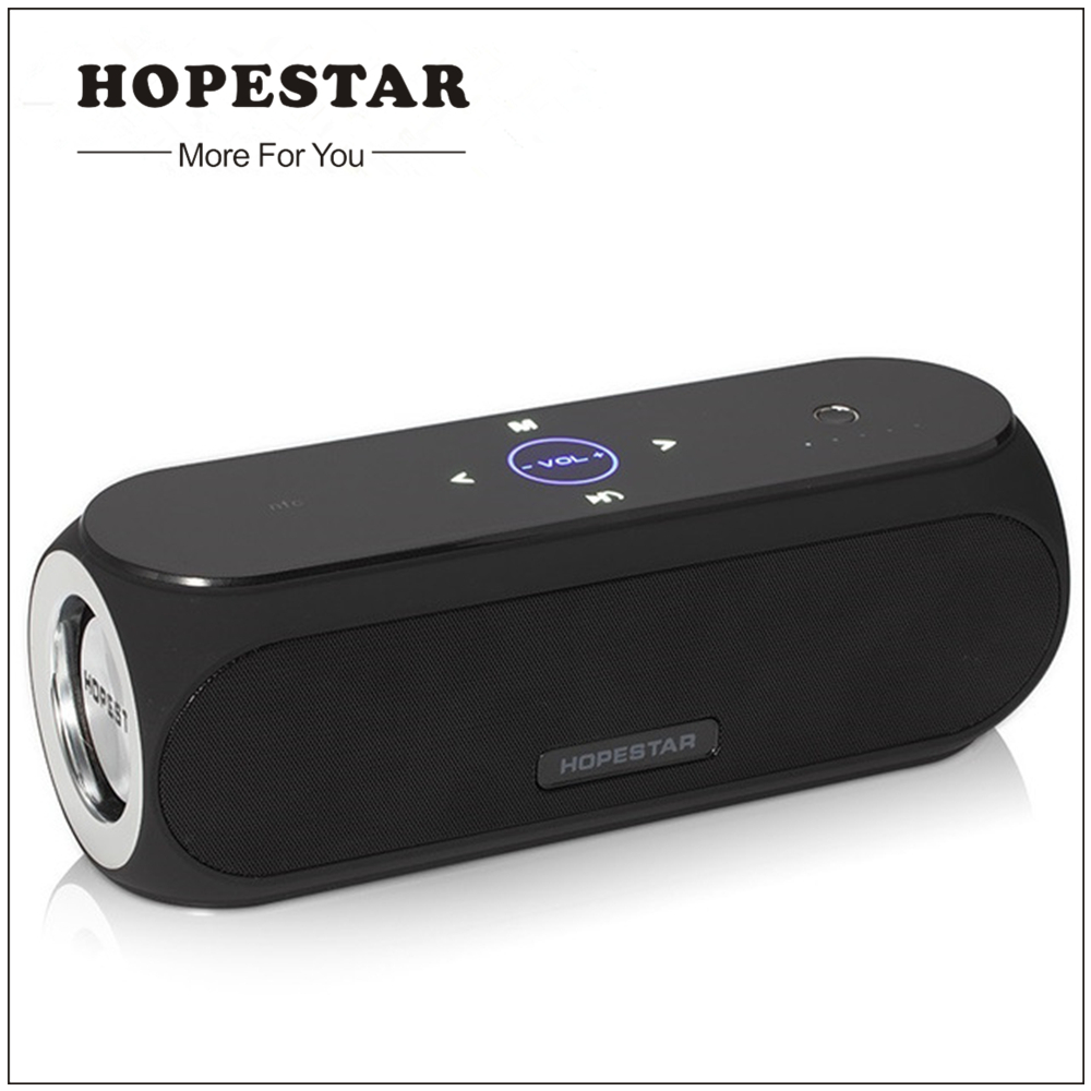 HOPESTAR Wireless Bluetooth Portable Speaker waterproof Loudspeaker Outdoor Bass Effect Power Bank For iPhone xiaomi NFC 20w portable wooden high power bluetooth speaker dancing loudspeaker wireless stereo super bass boombox radio receiver subwoofer