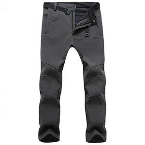 Image 1 - חורף מכנסיים גברים להאריך ימים יותר צמר מעטפת רכה תרמית מכנסיים Mens מזדמן סתיו עבה למתוח עמיד למים צבאי טקטי מכנסיים