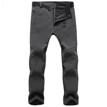 กางเกงฤดูหนาว Outwear Soft SHELL Fleece กางเกงบุรุษฤดูใบไม้ร่วงหนายืดกันน้ำทหารยุทธวิธีกางเกง