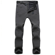 Winter Pants Men Outwear Soft Shell Fleece Thermal Trousers Mens Casual Autumn Thick Stretch Waterproof Military Tactical PantsCasual Pants