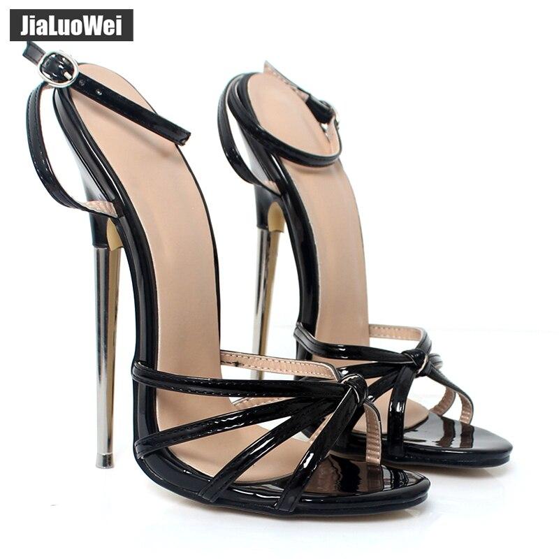 Jialuowei Fetish GiaroSlick 2017 Correa del tobillo de la moda del - Zapatos de mujer
