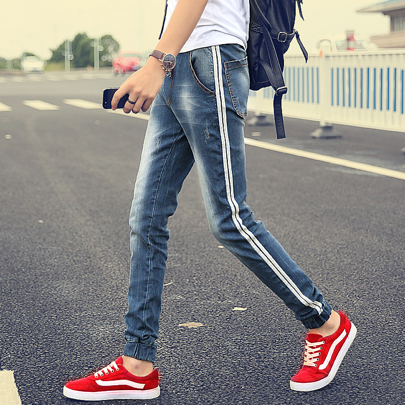 ФОТО New Fashion 2016 famous men jeans Summer straight loose youth men's jeans trousers long pants jeans for men