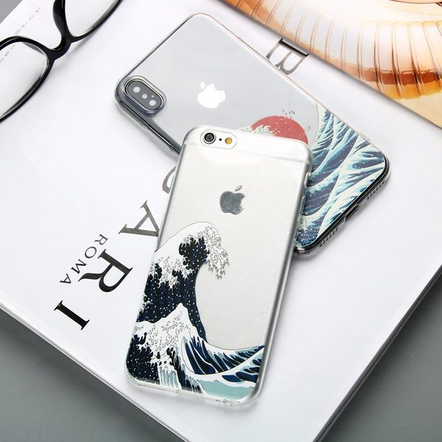 Silicone Ocean Waves Printed iPhone Case 2