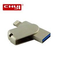 Metal USB Flash Drive OTG Lightning Pendrive 8gb 16gb 32gb 64gb TF Chip USB 3 0