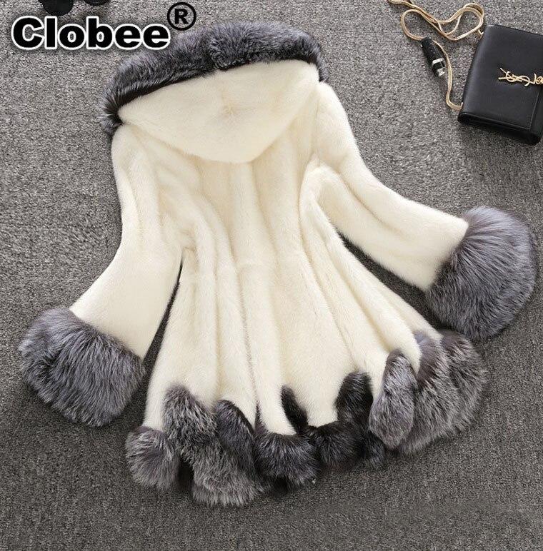 Multi D'hiver Courtes 2018 Taille Faux Artificielle De Russie Femmes Style Capuchon Fourrure Manteau Beige Ruhched noir Vintage Manteaux Robes À Renard Libre 6FqnB54rwq