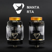 Original Advken Manta RTA Tank Atomizer 24mm Diameter 5ml 3 5ml Capacity Top Filling 510 Thread