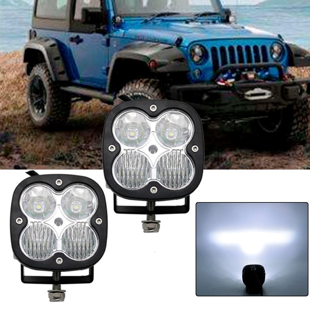 """2PCS 9/"""" LED Light Bar Flood Spot Fog Lamp for Jeep Truck Off road UTE RZR"""