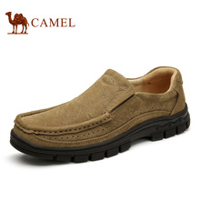 Camel 2016 New Autumn Men's Genuine Leather Shoes Flat Casual Shoes Cow Leather Shoes Male A632374090