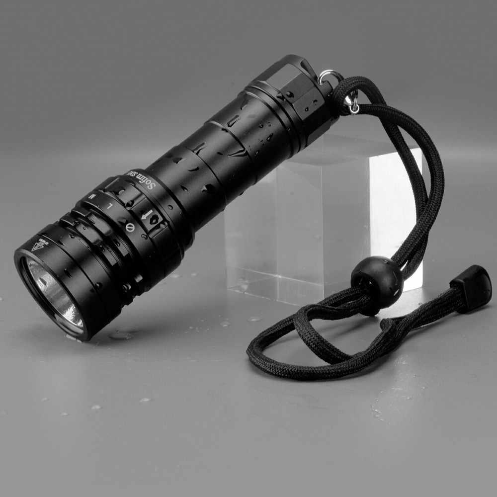Sofirn lanterna de led para mergulho sd05, lâmpada super brilhante 3000lm 21700 com interruptor magnético 3 para mergulho cree xhp50.2 modos de modo