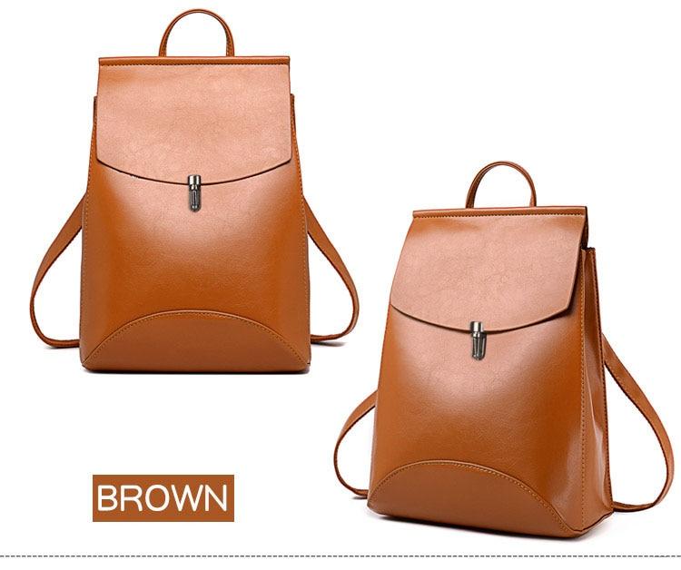 HOT Fashion Women Backpack High Quality Youth Leather Backpacks for Teenage Girls Female School Shoulder Bag Bagpack mochila