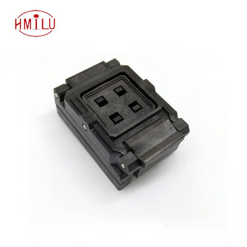 BGA24-1.0 Clamshell Burn in socket pin pitch 1.0mm IC size 6*8mm Pin Grid 5*5 4*4 BGA24(6*8)-1.0 BGA24 VFBGA24 burn in socket 6 pin