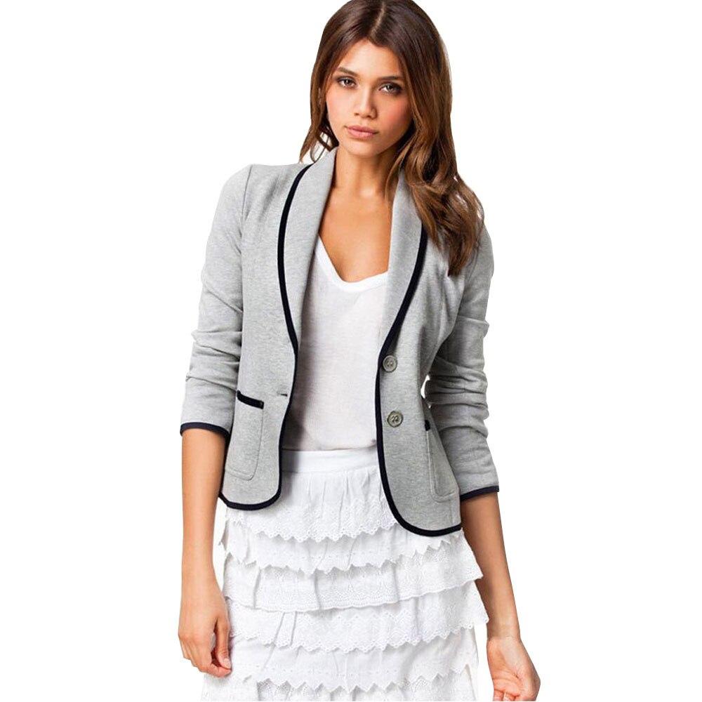 Tendance femmes affaires manteau Blazer costume à manches longues hauts Slim veste Outwear taille S-6XL haute qualité pas cher