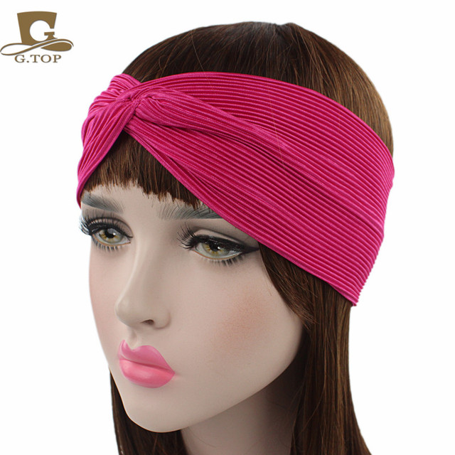 NEW wrinkle Headbands Sweatband Head Elastic Stripes Sweat Head Bands for  Women Runners Headband 7a28be1b17