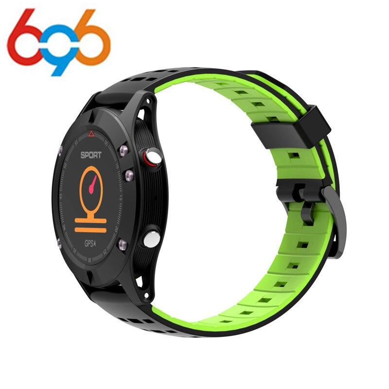 696 F5 GPS Smart Orologio Da Polso Impermeabile Android ios usura Smartwatch Frequenza Cardiaca Altimetro Termometro Verde Sport Watch per l'uomo le donne