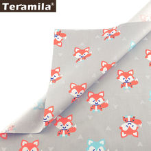 Teramila 100% хлопок ткань tissu животное мультфильм tecido