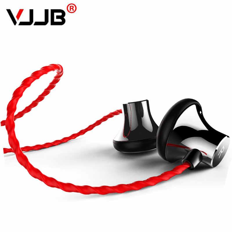 VJJB C1S HIFI kõrvaklapid Super bass Metal Kõrvaklappide kõrvaklapid mikrofoniga ja kaug-kõnega Mobiiltelefonile selge hääl