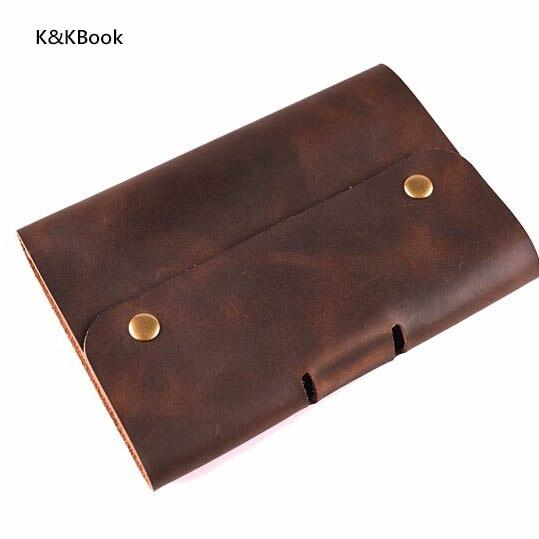 K & KBook לוגו מחשב נייד מקורי עור מקורי A5 - מחברות