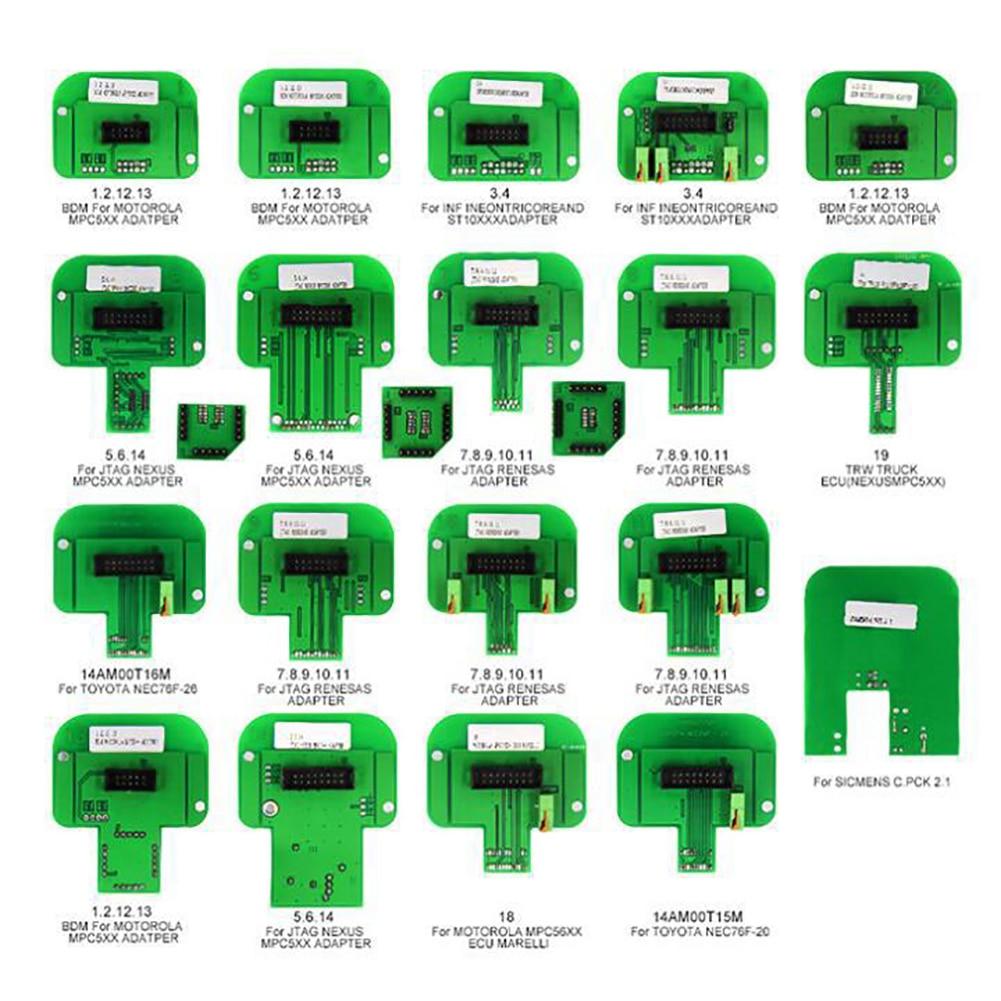 22 pcs pièces de voiture utilisation automatique lecteur de Code professionnel Scanner adaptateur sonde outil de Diagnostic puce ajuster Durable pour Trasdata Ktag