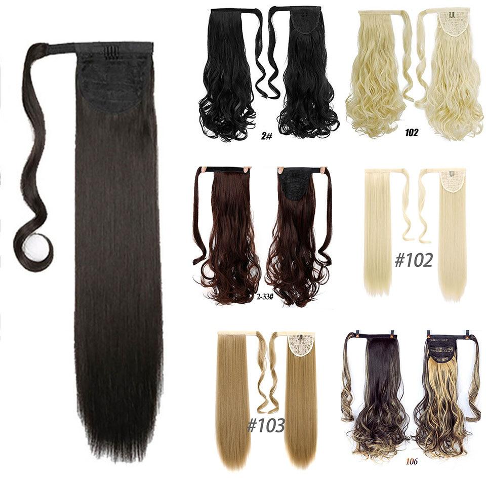 Schlussverkauf Wtb Lange Gerade Natürliche Schwarz Haar Extensions Hohe Temperatur Faser Clip In Haar Extensions Für Frauen Synthetische Clip-ins Einteilig Haarverlängerung Und Perücken