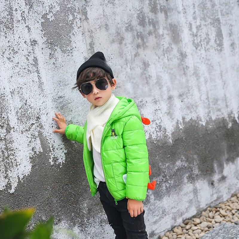 Новинка 2017 года мальчиков и девочек стеганая куртка пуховик Детская свет пуховое пальто с капюшоном для девочек Пальто для девочки Hiver