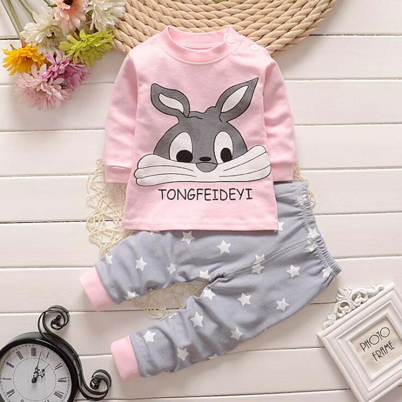 Cotton Baby Girls Clothes Winter Newborn Baby Clothes Set 2PCS CartoonBbaby Boy Clothes Unisex Kids Clothing Sets bebes 10pcs baby products boy and girls full moon fashion sets spring and autumn baby best gift newborn baby clothes unisex set cotton