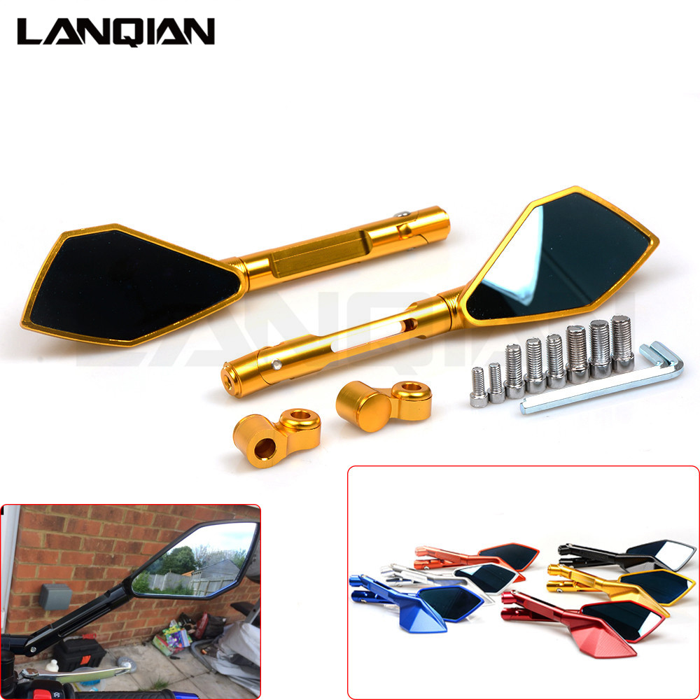 NEW Rearview Mirrors For Honda Hornet 600 CB 600F 900F 250F 300F 650F X4 CBF600 CNC Mirror Motorcycle Scooter/Racing Accessories for honda cb 500f cb 500x cb 650f 2016 2017 2018 motorcycle cnc fuel gas tank cap cover motorbike accessories