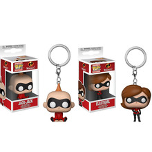 Funko POP Saku The Incredibles Gantungan Kunci Elastigirl Jack-Jack Action Figures, Mainan(China)