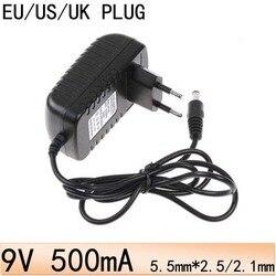 US EU UK Plug AC 100 V-240 V à DC 9 V adaptateur secteur 9 V/500mA (5.5mm * 2.5mm) 9 V convertisseur d'alimentation adaptateur mural de commutation