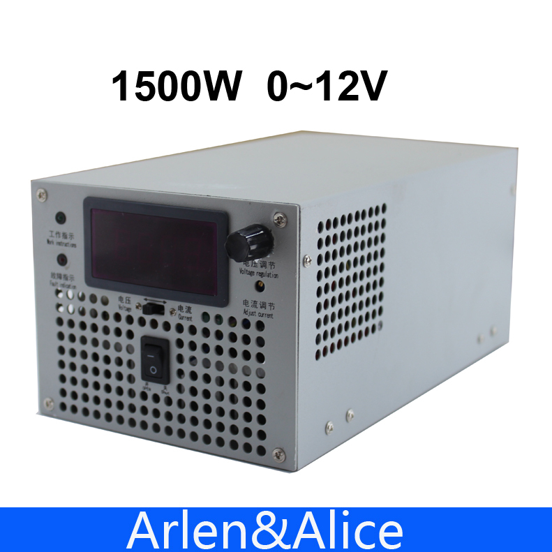 1500W 12V DC125A adjustable 220V INPUT adjustable Single Output Switching power supply adjustable AC to DC 1200w 48v adjustable 220v input single output switching power supply for led strip light ac to dc