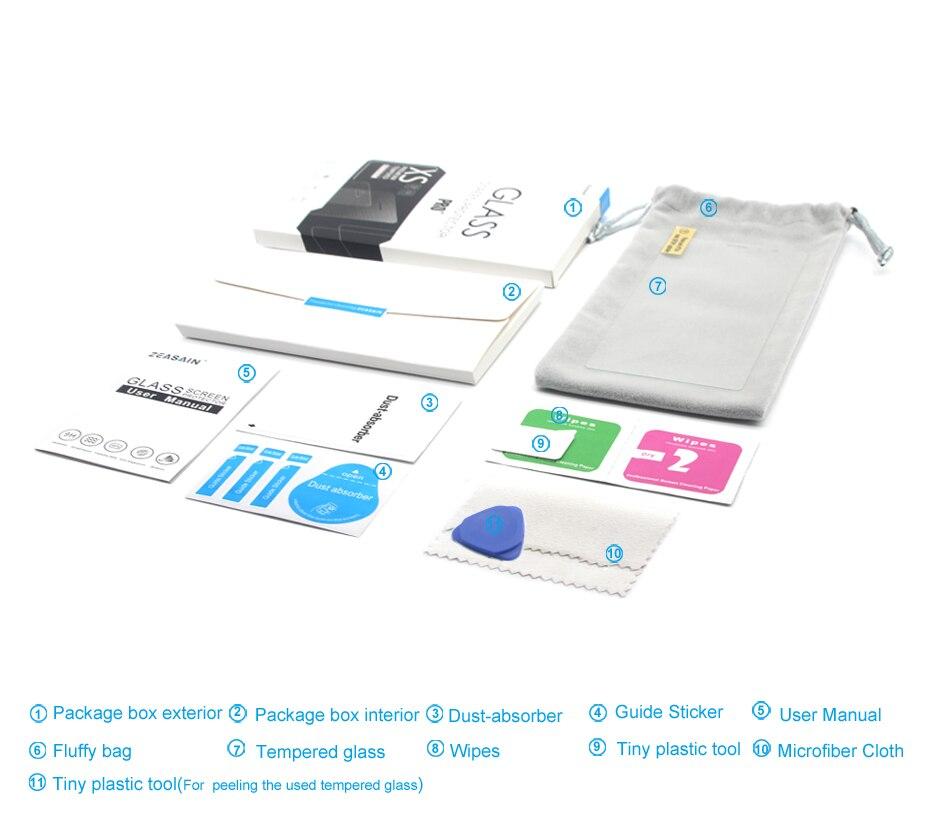 [2 փաթեթ] Բնօրինակ ZEASAIN 2.5D 0.3 մմ HD մաքուր - Բջջային հեռախոսի պարագաներ և պահեստամասեր - Լուսանկար 2