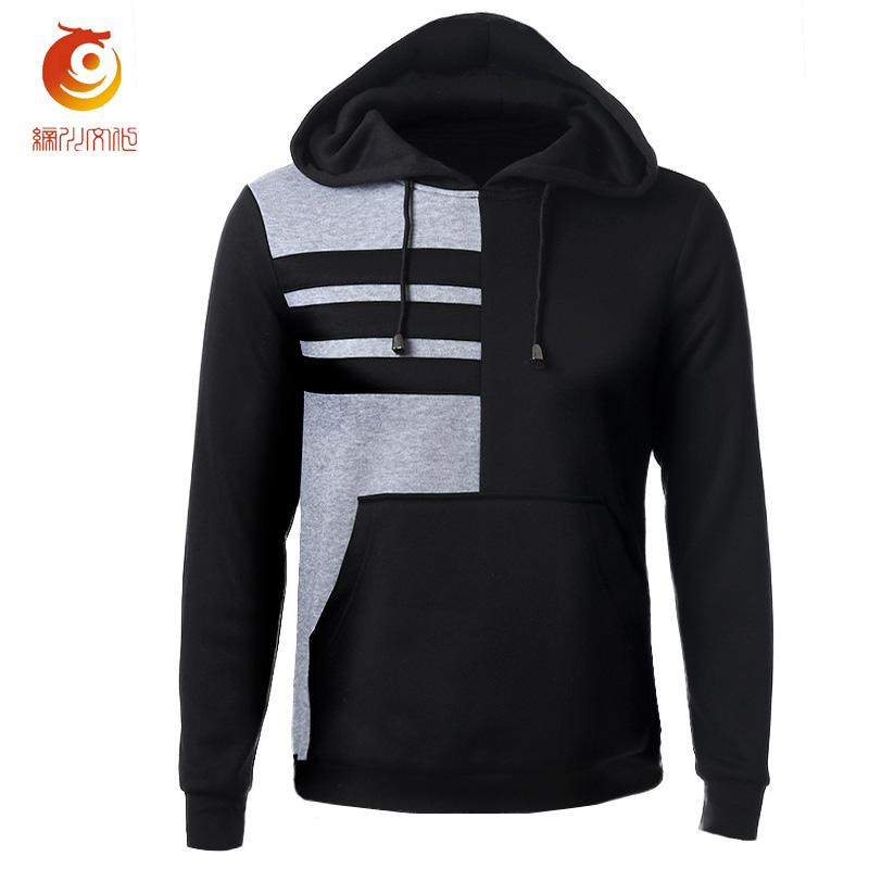2017 Men Hooded Pullover Sweatshirts Fashion Stitching Sweatshirt Slim Fit Pullover Hoodies Men Brand Sportswear Chandal Hombre