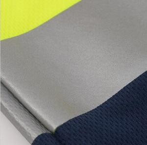 Image 5 - Hi Viz Safety Work polo shirt reflective High Visibility  Long Sleeve Polo workwear Shirt free shipping