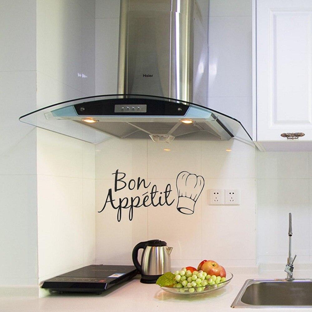 Home Bon Appetit Kitchen Wall Art Decal Vinyl Sticker Dining Room Fridge Decor China