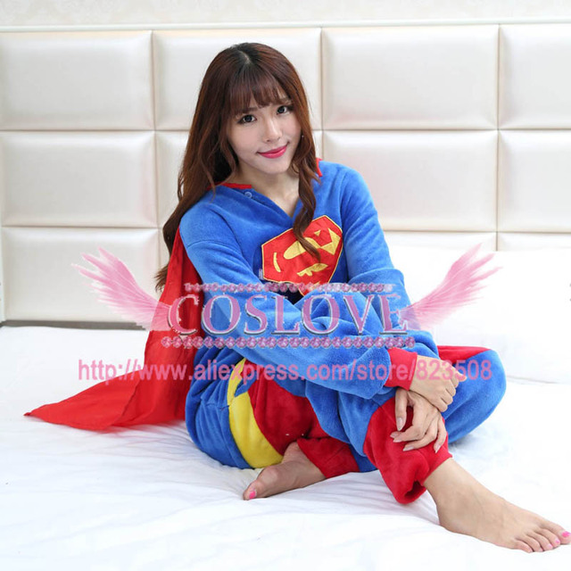 0c85ac01d2 Anime Superman Onesie Cosplay Costume Adult Kid Snowman Pajamas Winter  Pajamas Jumpsuit Halloween Christmas Costume