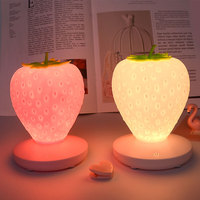 Creative Strawberry Shape LED Table Lamp USB Charging Dimmable Led Night Light Children Gift Bedroom Bedside Decoration Home MYC
