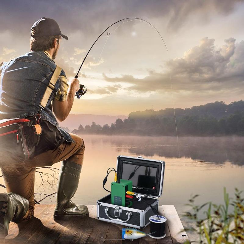 IR 15m 7 inch TFT Underwater Night Vision 1000TVL Fishing Video cable camera Kit Fish Finder Detector Under Water Fish Cam 7 tft lcd fishing camera kit fish finder hd 700tvl ccd sensor underwater video camera system night vision fishing video camera