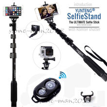 Remote Bluetooth Control YUNTENG 18-50″ Extendable Selfie Stick Selfie Monopod For iPhone Android Camera