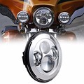 "For Harley Touring Electra Street Glide Stickers Softail LED Headlight 7"" Projection Head Light Lamp"