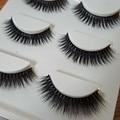 3 par/set 3D Cruz Gruesa Falsas Pestañas Extensión Maquillaje Súper Pestañas Postizas Naturales Largas 3d-09