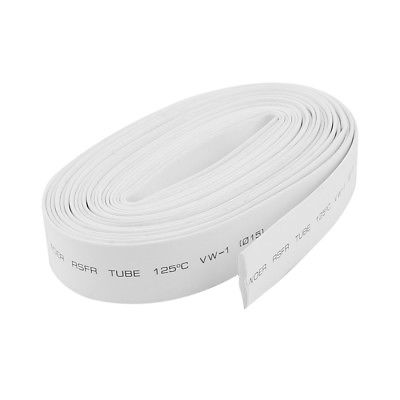 15mm Dia. Heat Shrink Wire Wrap Tubing Shrinkable Cable Sleeve White 10m Long 16mm diameter heat shrinkable tube shrink tubing wire wrap 5m 16ft10m yellow