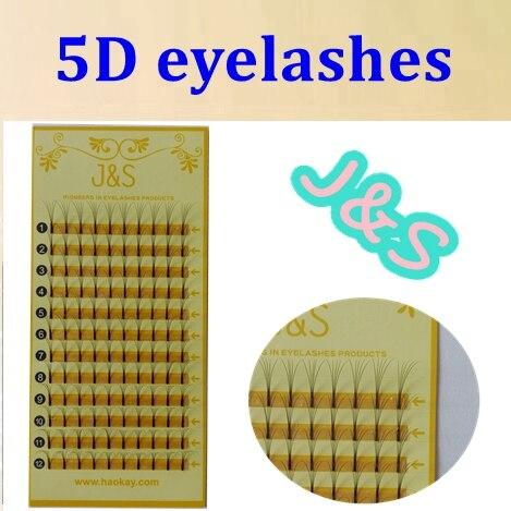 Haute Qualité J & S cheveux 5D vison cils premade fans individuel faux extension de cils Épais Faux cils 8 MM à 14 MM