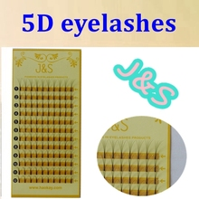 High Quality J & S hair 5D mink lashes premade fans Individual false eyelash extension Thick Fake Eye lash 8MM to 14 MM